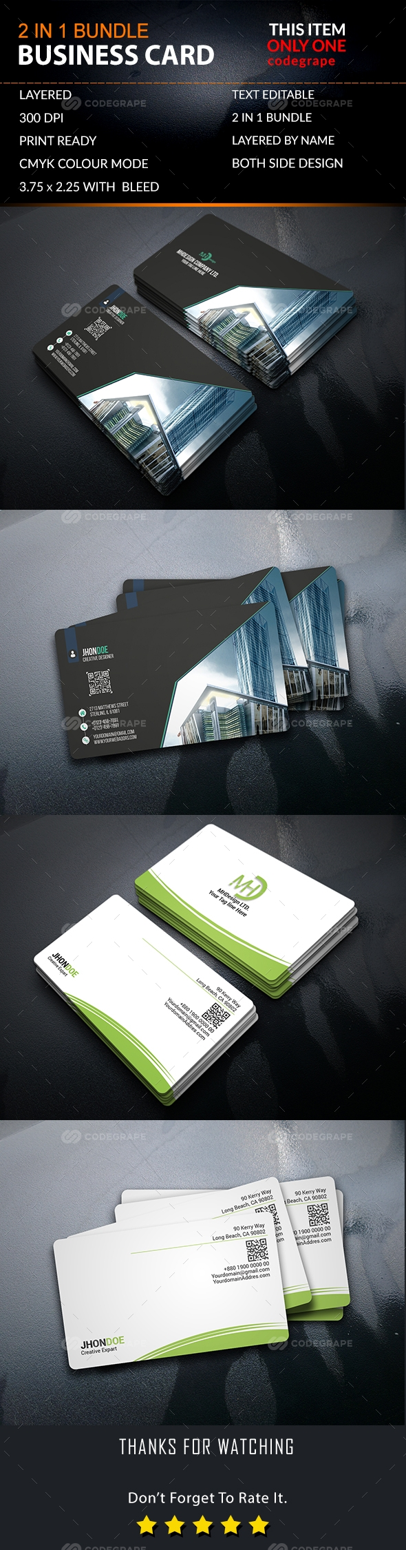2 IN 1 Bundle Business Card