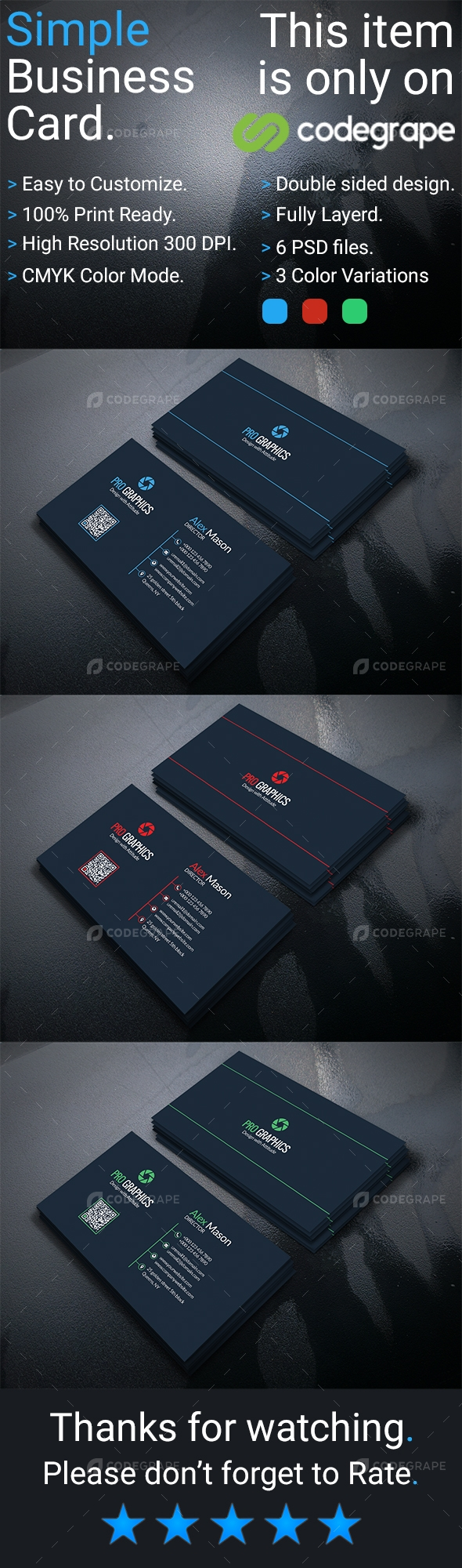 Simple Business Card Vol 3