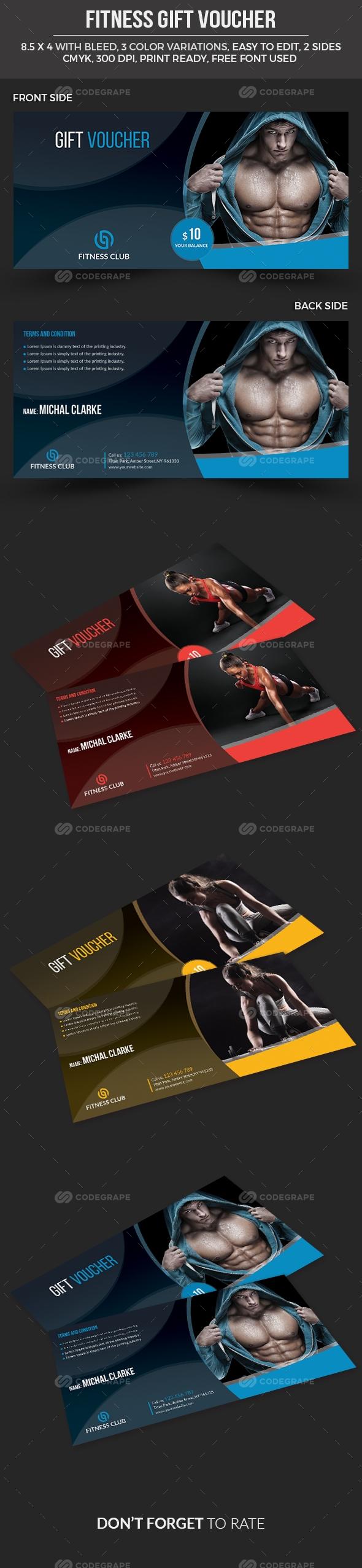Fitness Gift Voucher