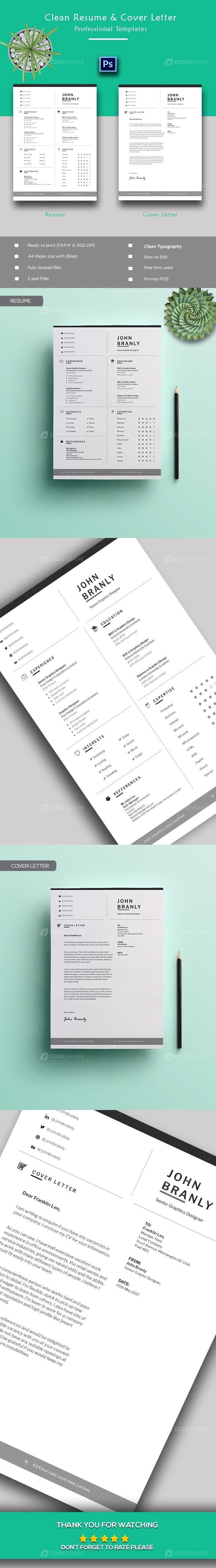 Creative Resume + Cover Letter Template
