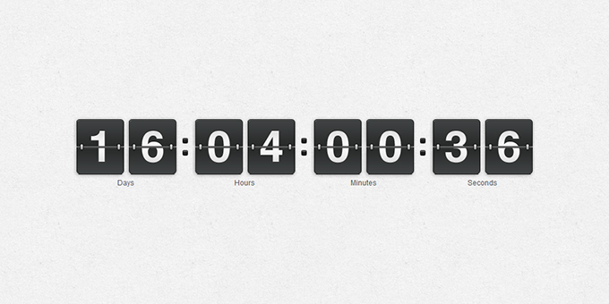 jQuery Countdown Timer
