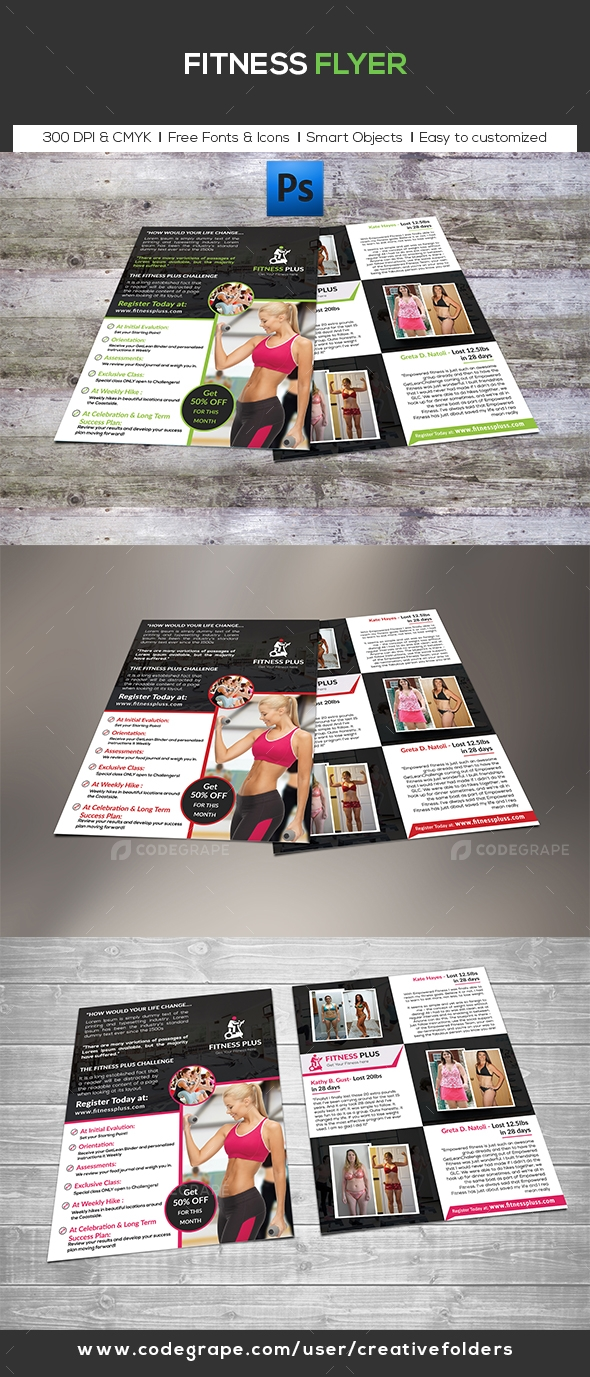 Fitness Flyer (Both side)