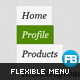 jQuery Sliding Flexible Menu v2