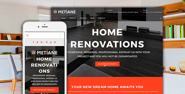 Renovation & Interior Design Wordpress Theme