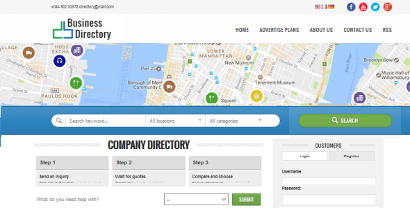 uBusinessDirectory - web solution for business listings & classifieds directory