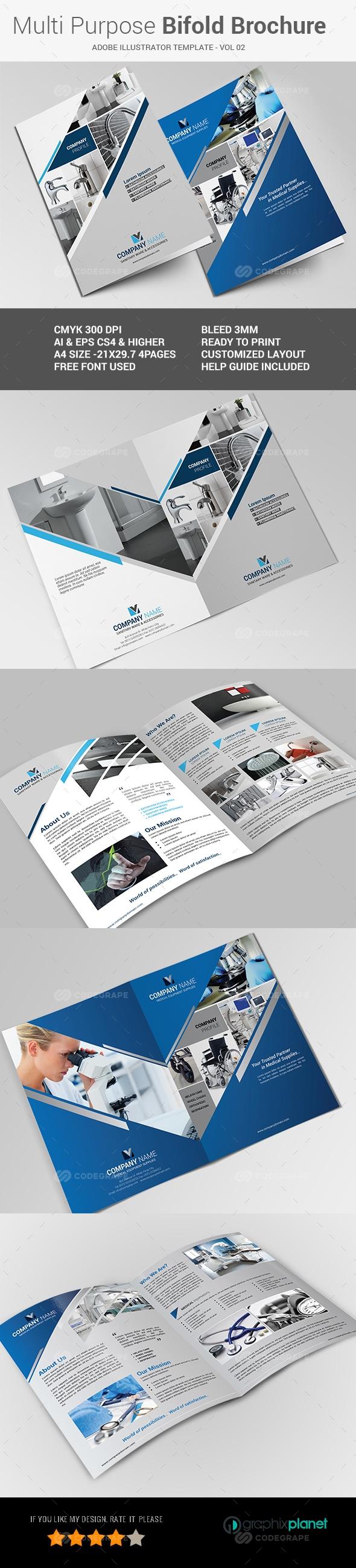 Multipurpose Bi-fold Brochure Vol-02