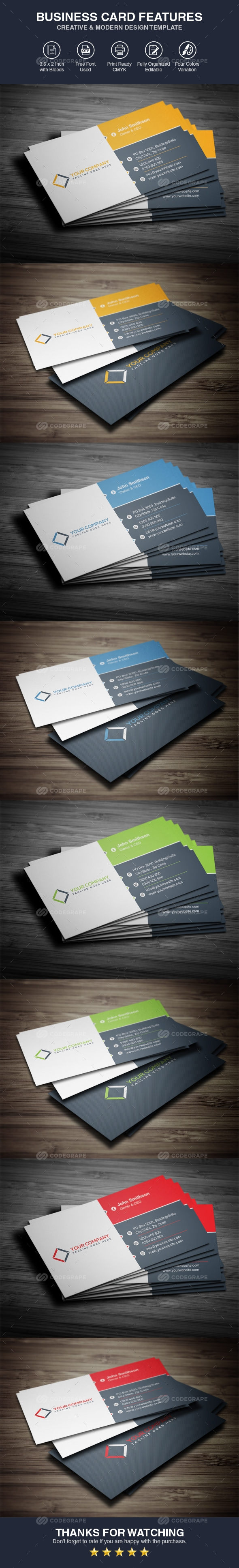 Corporate Business Card Template Vol 01