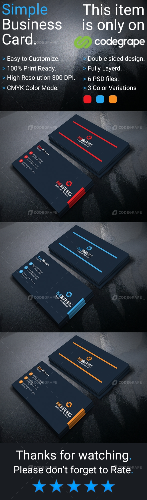 Simple Business Card Vol- 4