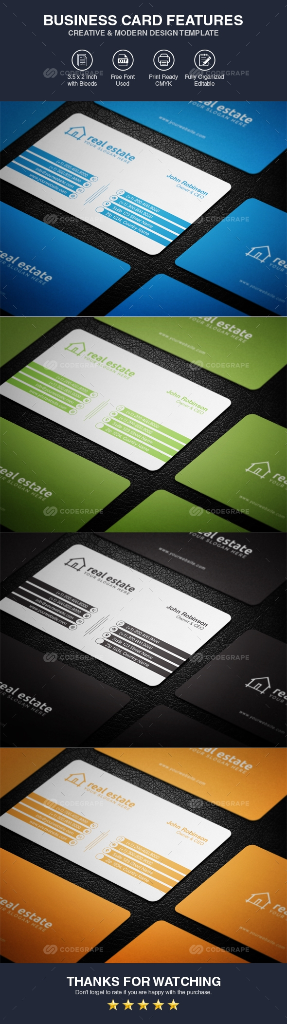 Professional Business Card Template Vol 03
