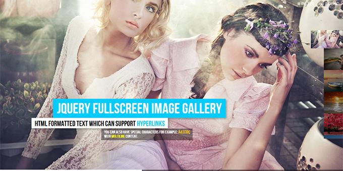 jQuery Fullscreen Image Gallery