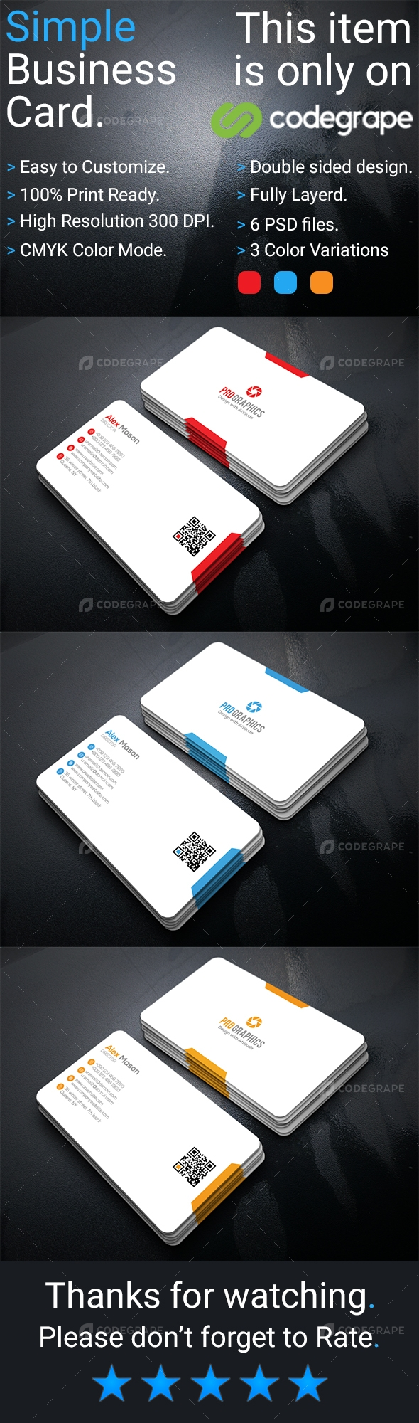 Simple Business Card Vol- 5