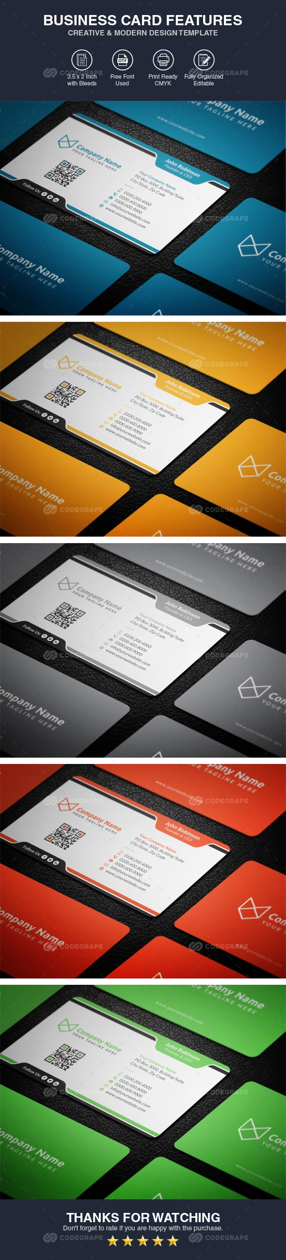 Corporate Business Card Template Vol 02