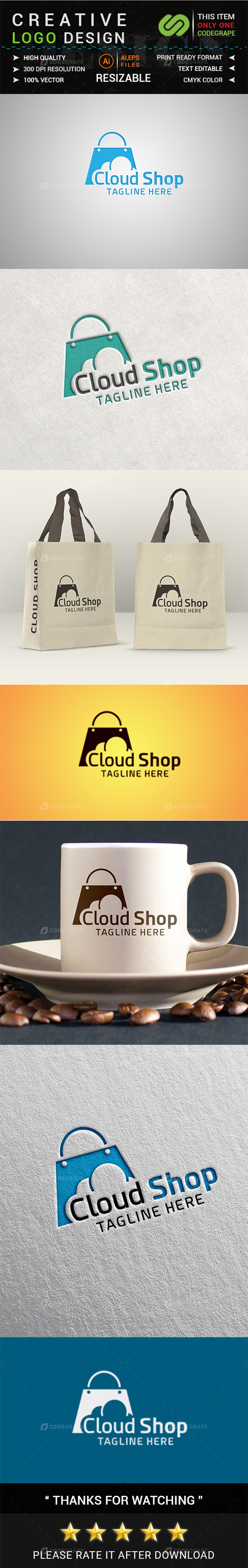 Cloud Shop Logo Design