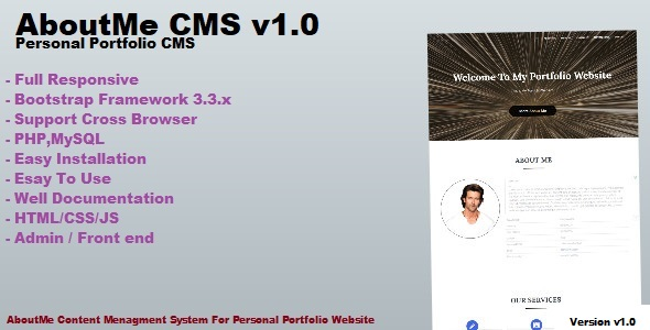 AboutMe CMS