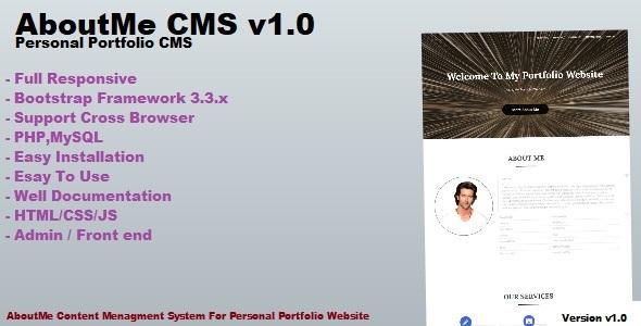 AboutMe - Personal Portfolio CMS