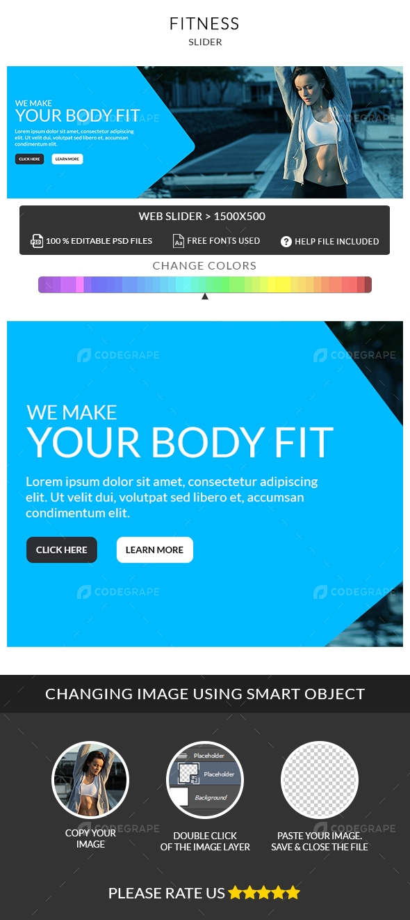 Fitness Slider PSD