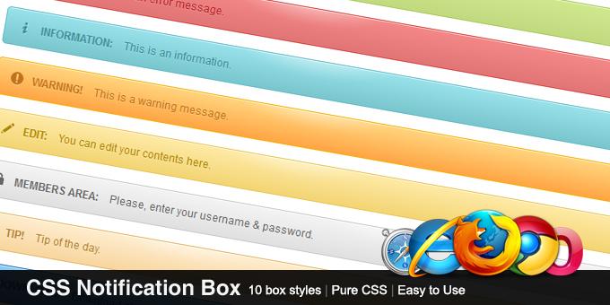 CSS Notification Box