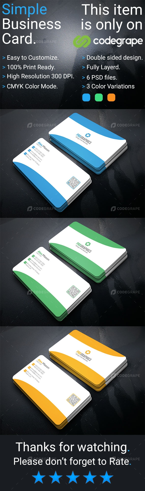 Simple Business Card Vol 6