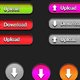 Colorful Upload & Download Buttons Collection