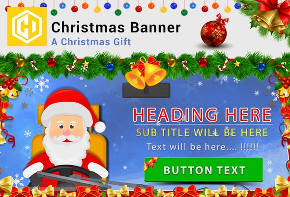 Christmas Banner - Santa Claus
