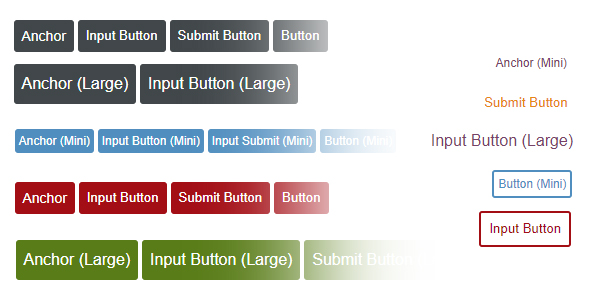 HV Buttons (HTML and CSS)