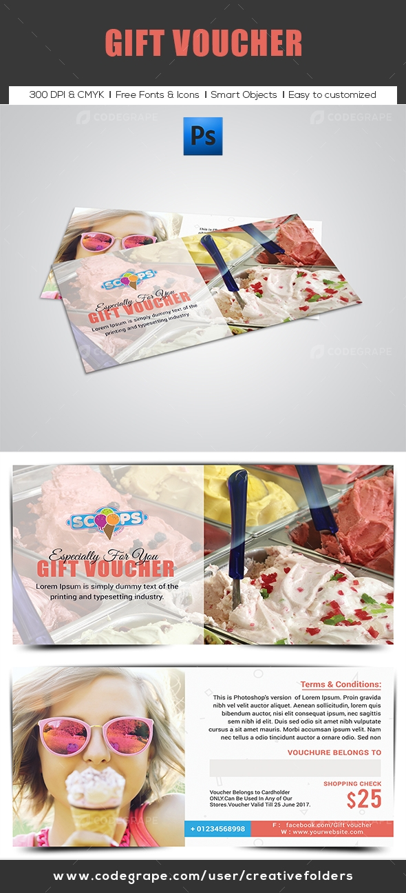 Ice Cream Gift Voucher