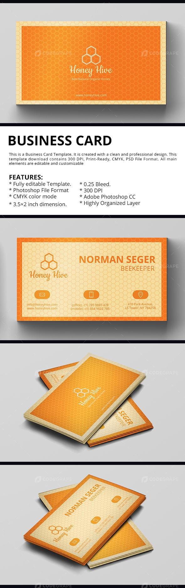 Bee Keeper Business Card