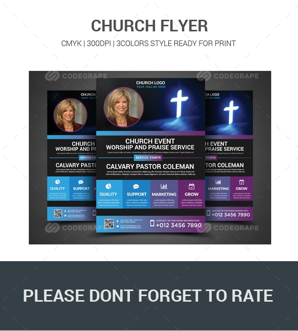 church flier