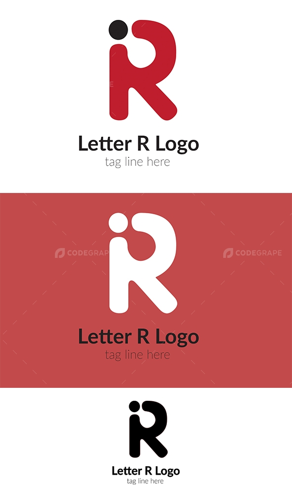 R letter logo print codegrape r letter logo thecheapjerseys Image collections