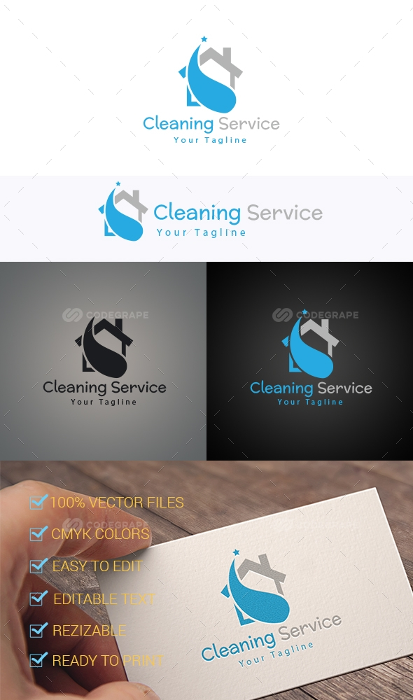 Cleaning Service Logo Template