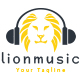 Lion Music Logo Template