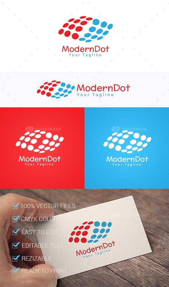 Modern Dot Logo Template