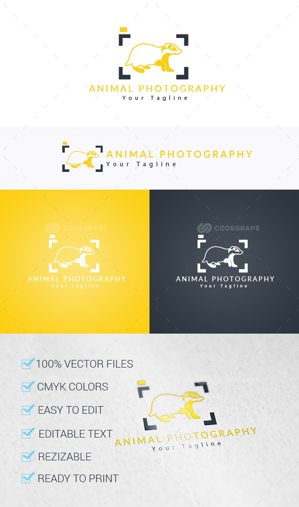 Animal Photography Logo Template