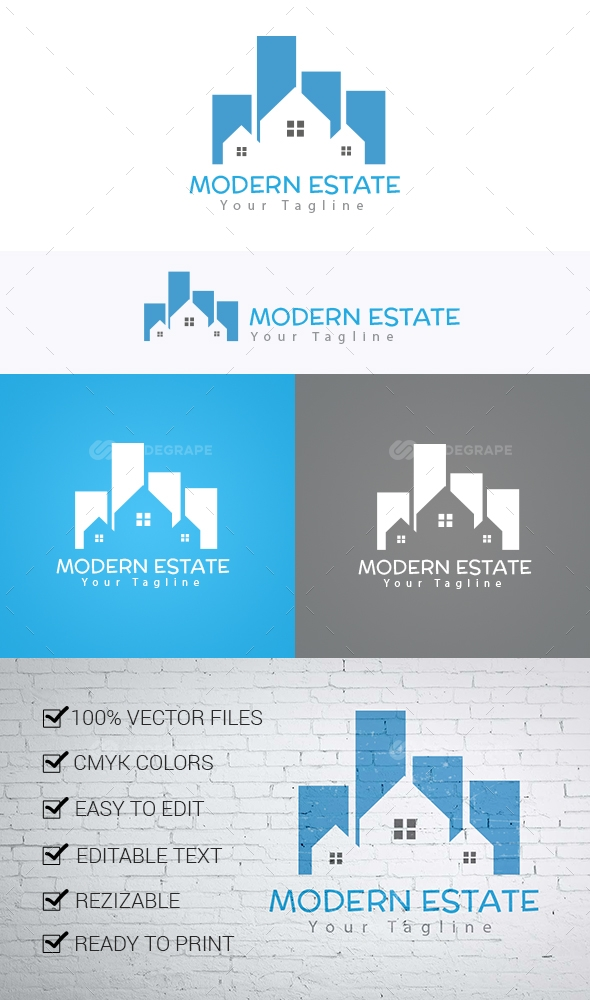 Modern Estate Logo Template