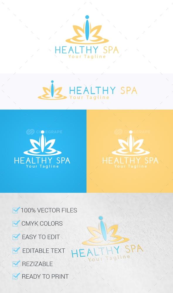 Healthy Spa Logo Template