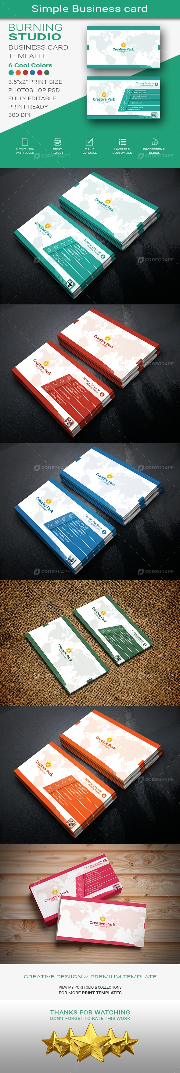 Simple Business Card Design Print