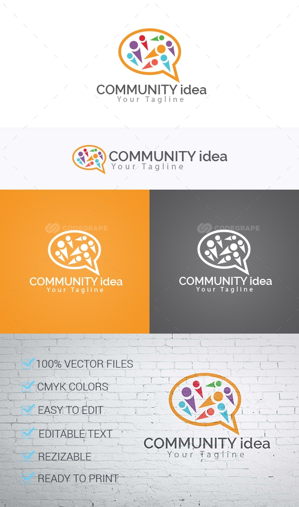 Community Idea Logo Template