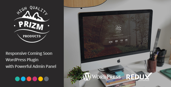 Prizm Responsive Coming Soon WordPress Plugin