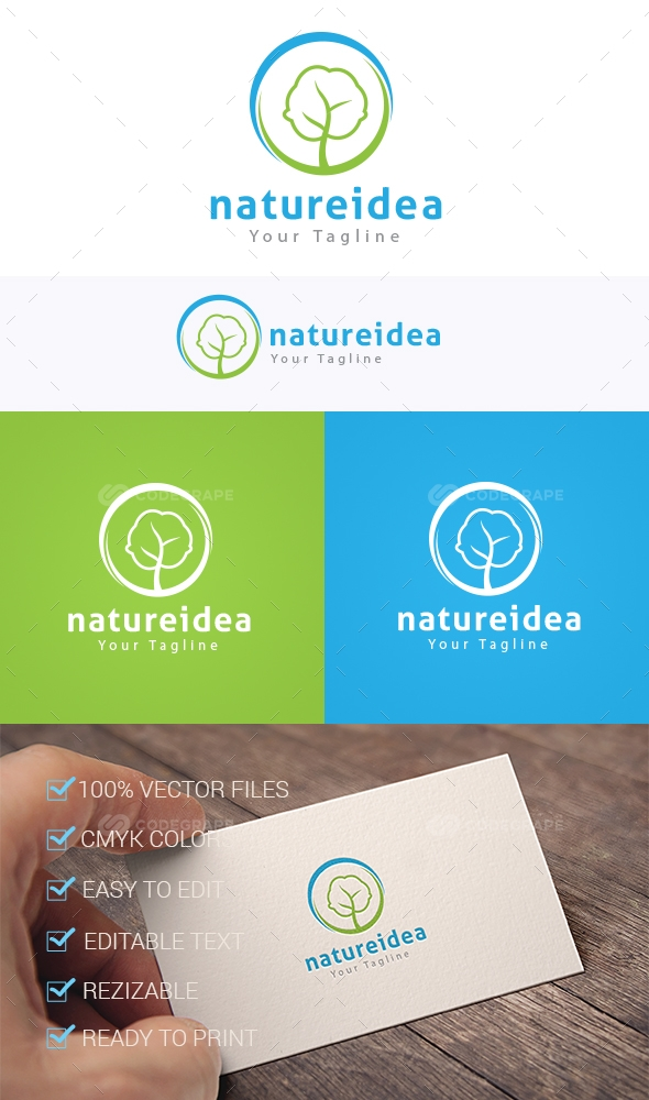 Nature Idea Logo Template