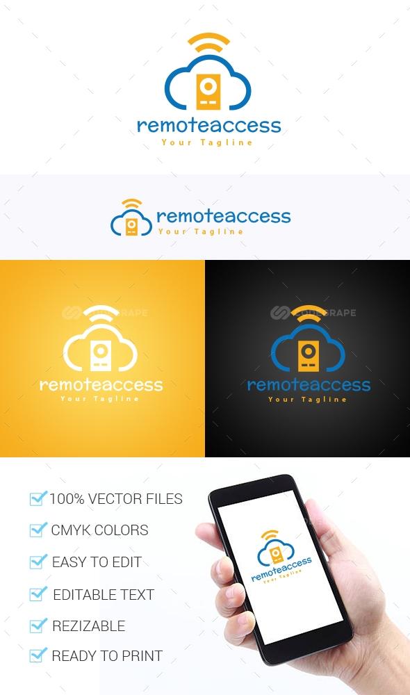Remote Access Logo Template