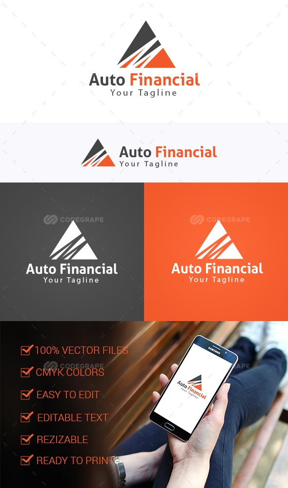 Auto Financial Logo Template