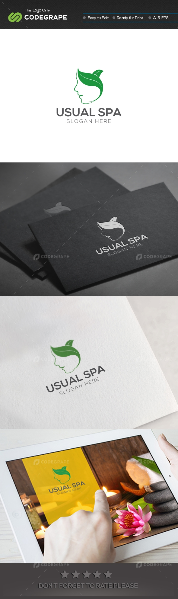 Usual Spa Logo