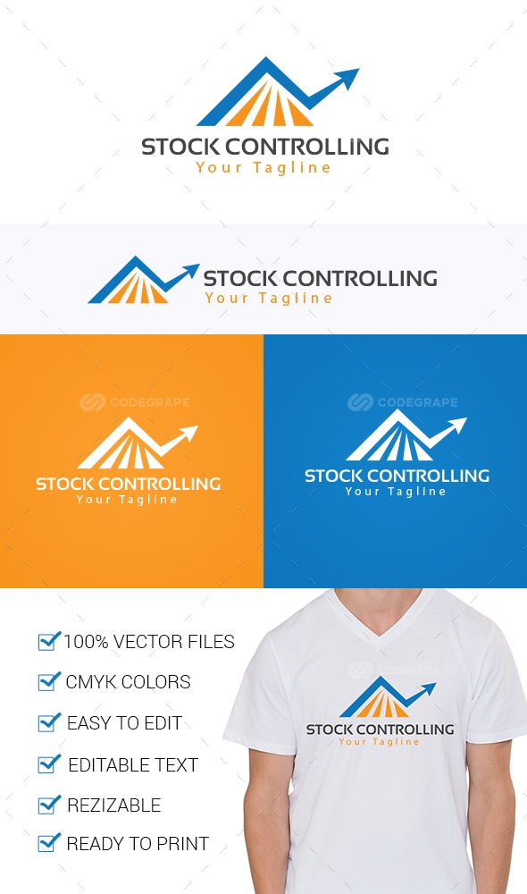Stock Controlling Logo Template