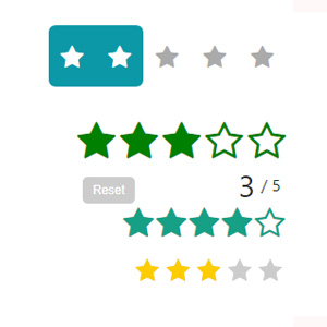 Pure CSS Star Rating Widgets