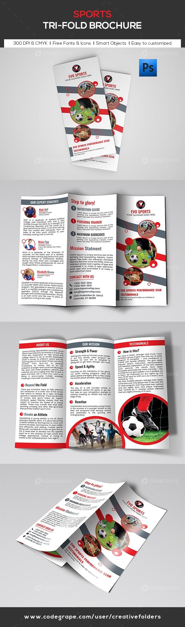 Sports Trifold Brochure