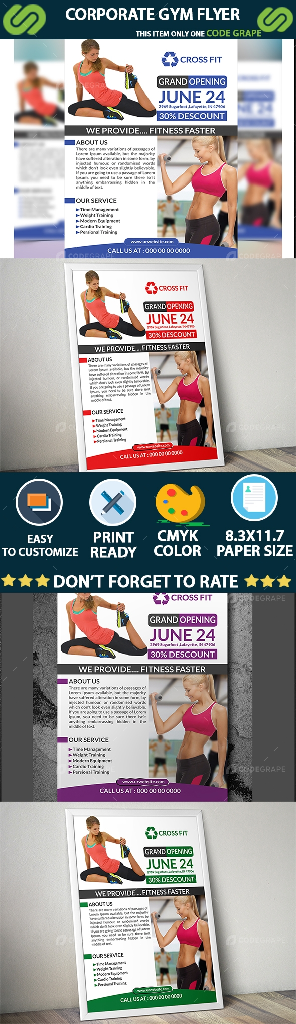Corporate GYM Flyer