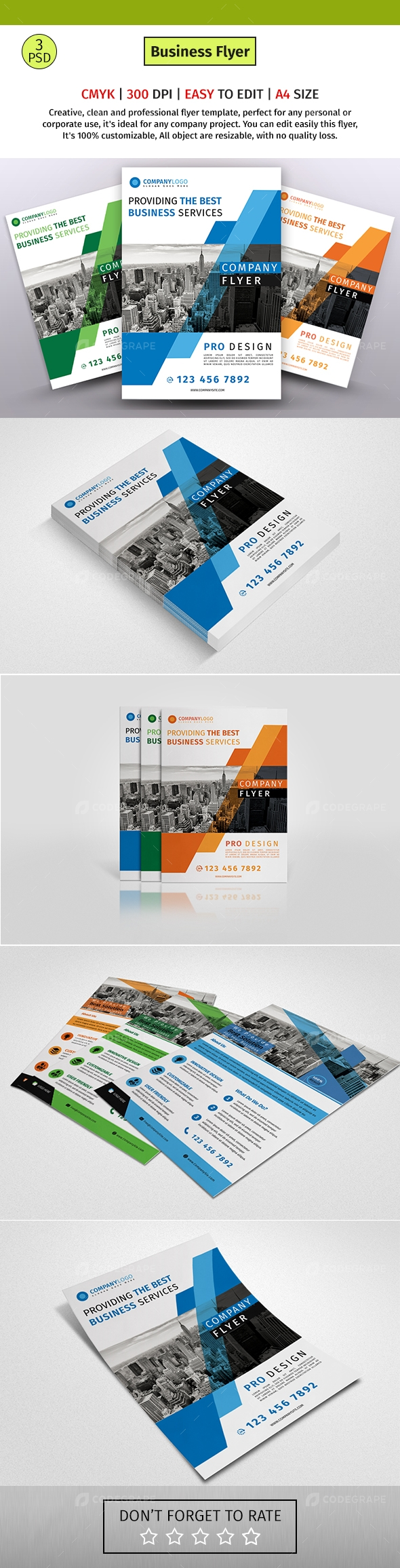 A4 Corporate Business Flyer 22