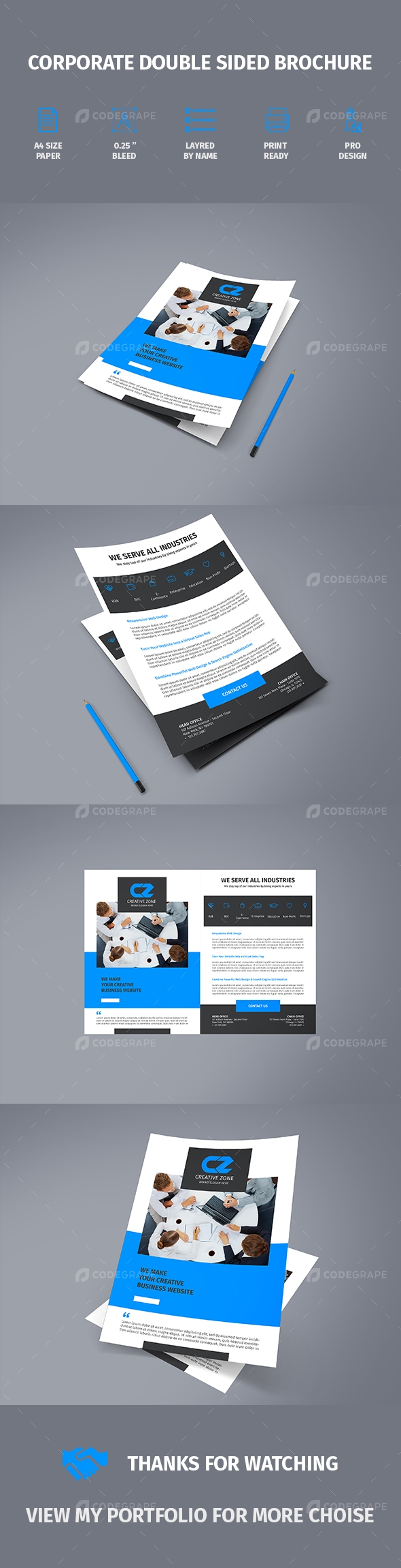 Corporate Double Sided Brochure