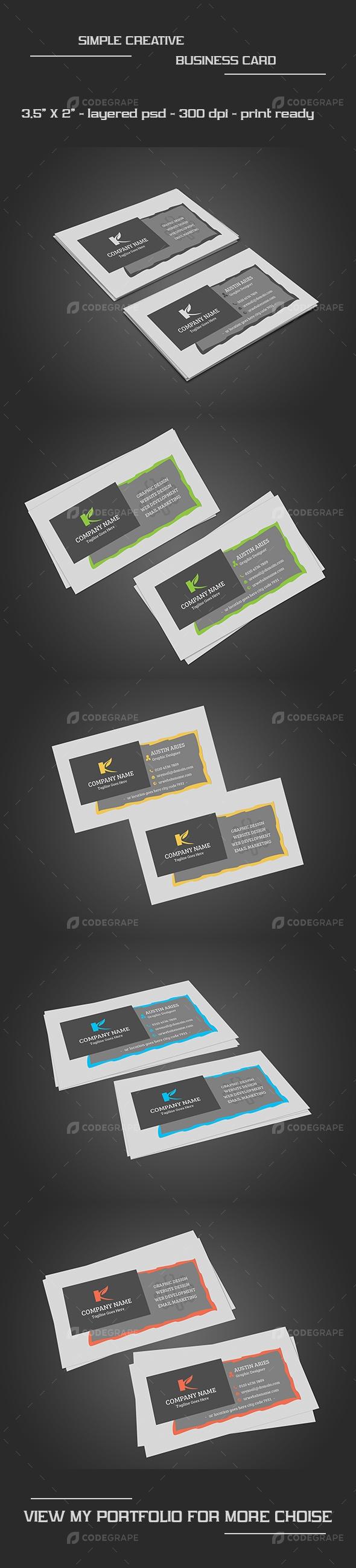 Simple Creative Business Card