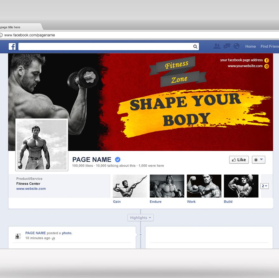 Grunge Facebook Cover for GYM
